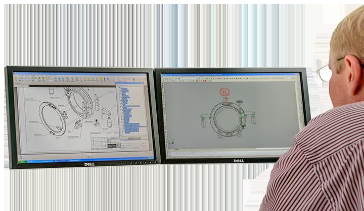 Konstruktion mit CAD Arbeitsplatz